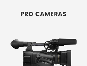 Pro Camcorders and Cameras
